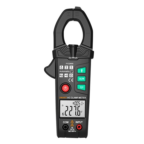 FY3269S Digital Multimeter 6000 Counts Current Clamp Voltmeter Ammeter Auto Amper Clamp Meter 600A AC/DC Voltage Testers PUO88
