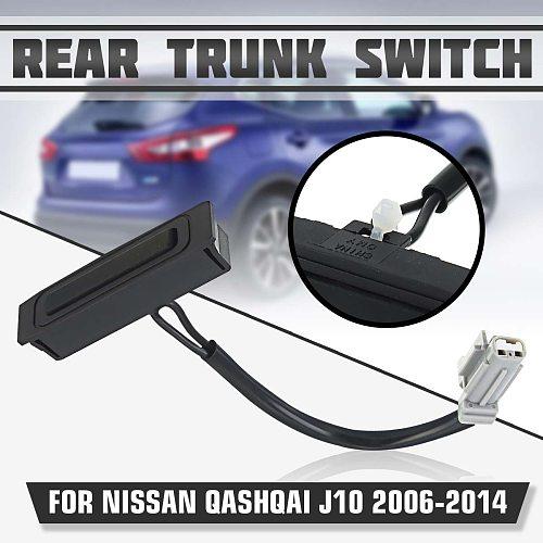 Car Rear Trunk Tailgate Switch Handle 90602-JD004 90602-JD00B 90602JD004 For Nissan Qashqai J10 2006 2007 2008 2009 - 2014