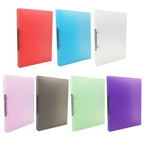 1pc A4 Clip File Folder Ring Binder Loose-leaf Paper File Folder School Office Supply Random Color