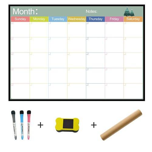 A3 Whiteboard Monthly Planner Magnetic Message Board for School Bulletin Memo Boards Fridge Magnet Calendar Daily Planner