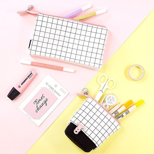 Super Big Pencil Case Canvas Large Capacity Pencilcase School Pen Case Supplies Pencil Bag School Box Pencils Pouch Stationery