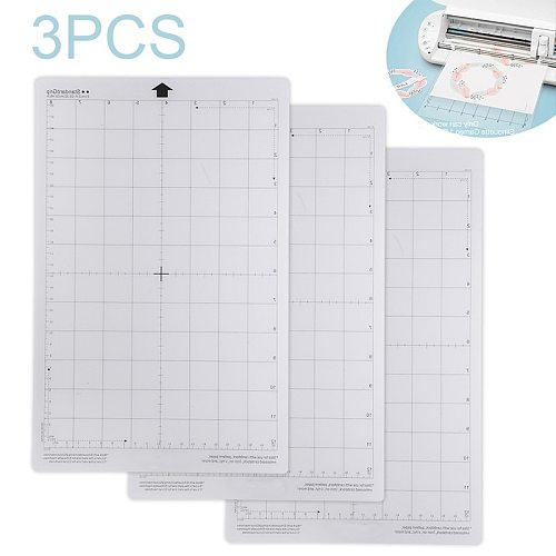 3pcs/set Replacement Cutting Mat Transparent Adhesive Mat Pad With Measuring Grid For Silhouette Cameo Plotter Machine