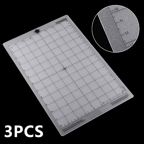 3pcs 8 x12  Replacement Cutting Mat Transparent Adhesive Mat Pad With Measuring Grid For Silhouette Cameo Plotter Machine