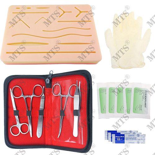Surgical Suture Training kit Skin Medical Training pad Operate Suture Practice model Scalpel Suture needle Needle-holder