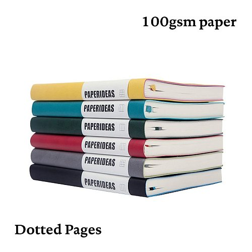 A5 Simple Soft Cover Dotted Notebook Dot Grid JournalTravel Planner Diary