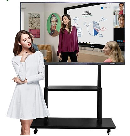 75 inch Electronic teaching digital presentation boards interactive lcd touch screen monitor smart tv whiteboard