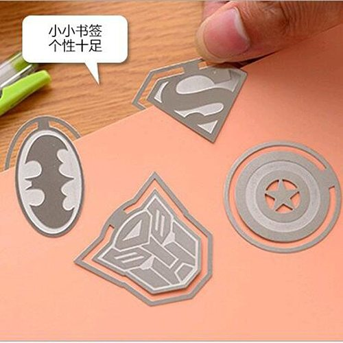 Captain America Metal Bookmarks Cute Cartoon League Of Legends Bookmarks Children Student Stationery Gift School Office Supplies