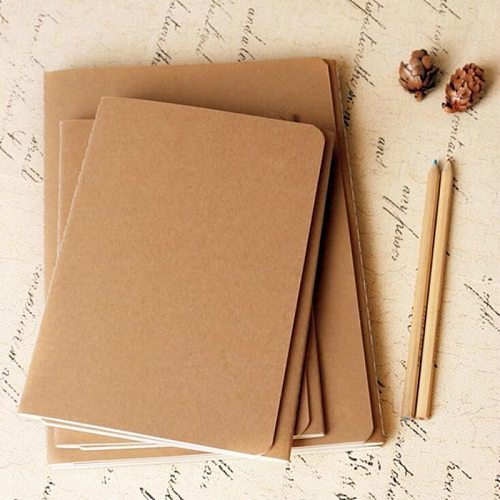 Cowhide Paper Sketchbook Bullet Notebook Journal Cute Paper Weekly Planner Accessories Stationery Diary Agenda Travel 01623