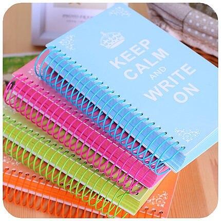 Sharkbang 2021Candy Color Page Coil Blank Spiral Notebook Planner Journals DIY Graffiti Sketch Book Handbook School Stationery