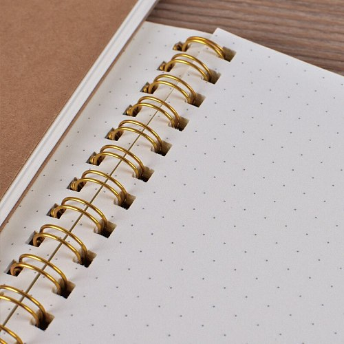 Journal A5 Notebook Kraft Grid Dot Blank Drawing Daily Weekly Planner Agenda Book Time Management School Supplies Gift