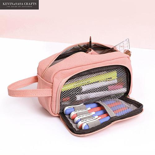 20 Colors Large Capacity Pencil Case Kawaii Pencilcase School Pen Case Supplies Pencil Bag School Box Pencils Pouch Stationery