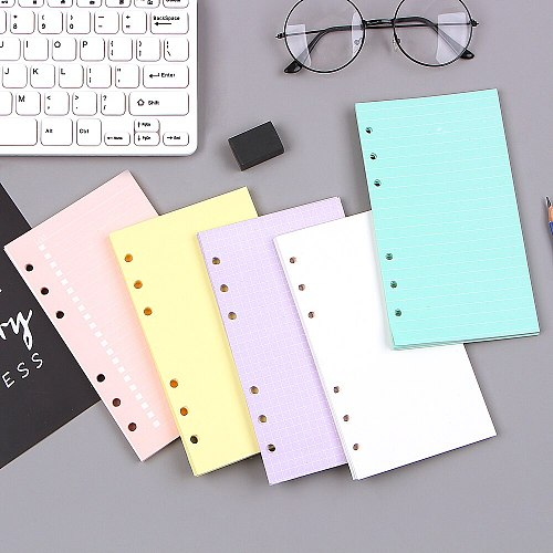 New notebook accessories A5 A6  color page  Original Newest Inside Pages planner filler papers Loose-Leaf Notebook Accessories