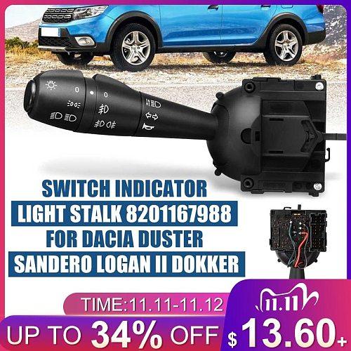 1Pcs 8201167988 Steering Column Indicator Light Stalk Unit Headlamp Fog Lamp Switch For Dacia Logan Lodgy Sandero Dorker Renault