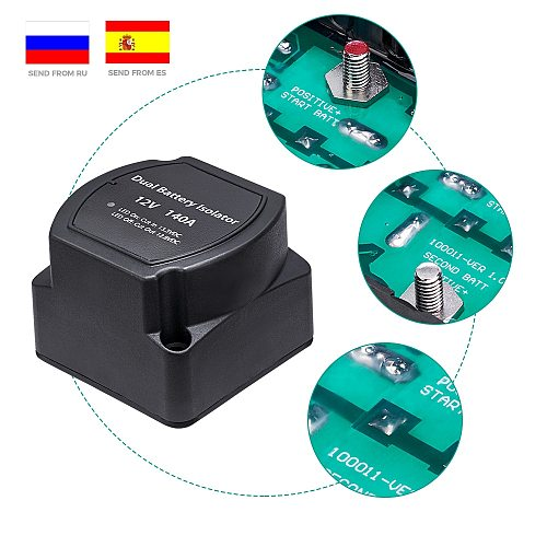 ATV UTV 12V 140A Battery Isolator Voltage Sensitive Relay VSR Automatic Charing for Polaris for Artic Cat Boats, RV's