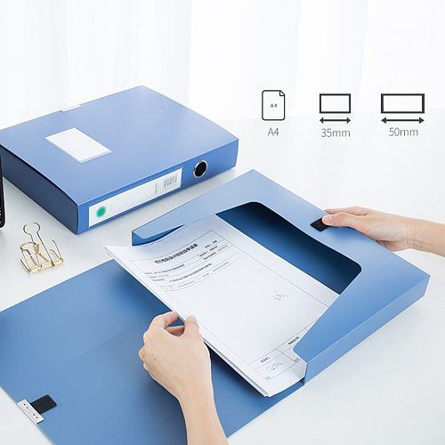 1PC A4 PP Clip File Folder Portable Document File Box Storage Bag Lightweight Business Organizer File Box School Office Supply