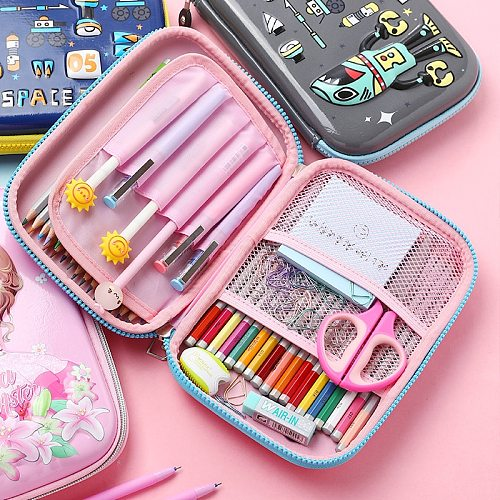 Unicorn Kawaii  Pencil Case Pencil Box Cute Large Capacity Multifunctiona  Pencilcase Pen Case School Supplies For Girls Boy