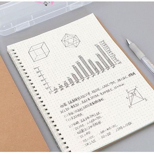 Journal A5 Notebook Kraft Grid Dot Blank Line Dot Drawing Daily Planner Agenda Stationery Management School Office Supplies