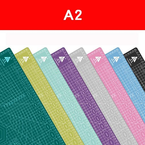 A2 60 * 45cm Cutting Board Grid Line Self-healing Cutting Board Craft Card Multi-color Double-sided Desktop Cutting Pad
