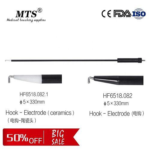 MTS Reusable Laparoscopic Surgical Instruments Monopolar L-type Hook-Electrode medical teaching Surgery Electric Hook