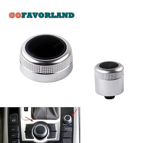 MMI Multi Media Rotary Knob Main Menu Volume Switch Cover 4F0919069 4F0919070 For Audi A6 Allroad Quattro C6 A8 Q7 2007-2009 RS6