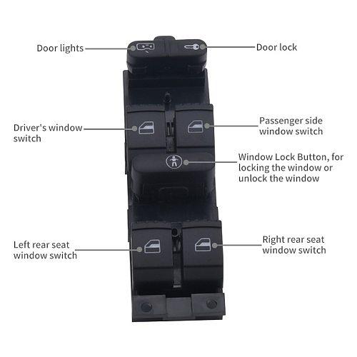 SPEEDWOW Electric Power Double Window Switch Buttons For VW Passat Golf Jetta MK4 B5 1999 2000 2001 2002 2003 2004 3BD959857