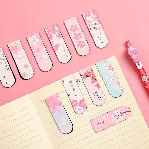 JIANWU 6pcs/set Cute Cartoon magnet bookmark life fresh bookmark creative magnetic Bookmarks For Books kawaii School supplies