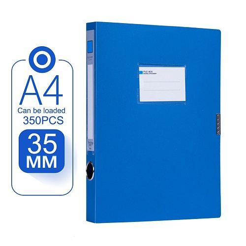 Portable A4 Document File Box 3.5cm Storage Bag Files Folder Lightweight Business Organizer File Box