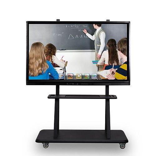 55 65 75 inch 6 in 1 LED 4k wifi television TV function Interactive touch screen electronic teaching whiteboard with PC built in