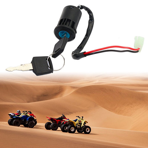 1 Set ATV  Ignition Key Switch Universal 2 Wires Ignition Keys Start Switch Lock Key For ATV Go Kart Scooter Motorcycle Etc 2019