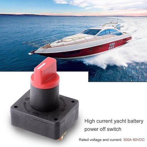 Car Master Battery Disconnect Rotary Cut Off Power Kill Switch Master Disconnect Rotary Cut Off Isolator Kill Switch12V 100A