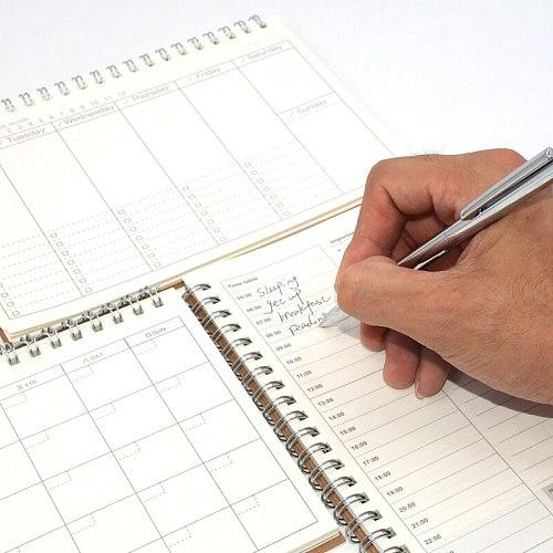 Diary Weekly Planner Notebook Caderno Agenda 2020 2019 Libretas Note Book Kraft Paper Notebooks Agendas Filofax a5 Spiral