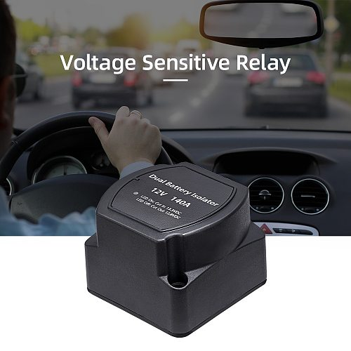 12V 140A Voltage Sensitive Relay Battery Isolator Automatic Charging Relay Car Accessories Car Battery Relay