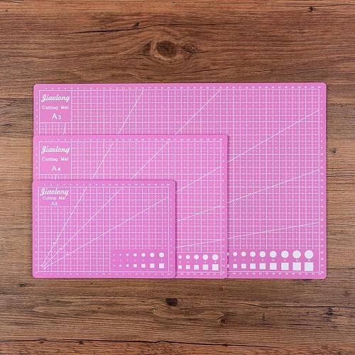 Cutting Mat A3 A4 A5 PVC Patchwork Cut Pad A3 Patchwork Tools Manual DIY Tool Cutting Board Double-sided Self-healing Pink Color