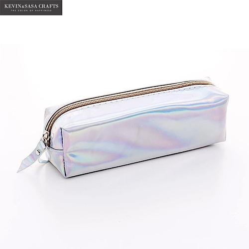 Iridescent Laser Pencil Case Quality PU School Supplies Stationery Gift Pencilcase School Cute Pencil Box School Tools