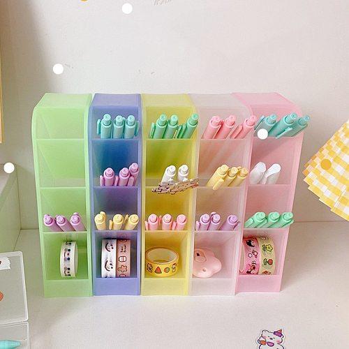 Sharkbang New Arrival Macarone Series Desk Pen Holder Pencil Makeup Storage Box Desktop Organizer School Office Stationery
