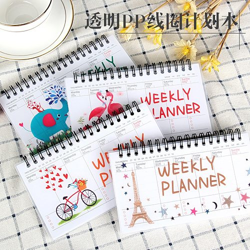 Kawaii Notebook Portable 2020 2021 Agenda A6 Diary Journal Weekly Monthly Planner School Supplies Stationary Organizer Schedule