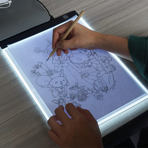 The New clip+A4 Drawing Board LED Writing Painting Light Box USB Powered Tablet Copyboard Blank Canvas for Painting tool