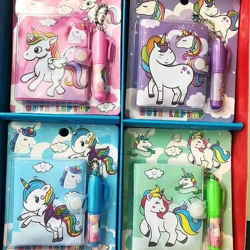 Kawaii Unicorn Set 1 Notebook+1 Ballpoint Pen Writing Diary Book Kids Gift Stationery Student Rewarding School Office Supply