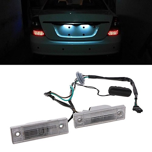 2Pcs License Plate Light with Trunk Switch Lightweight Back Trunk Professional For Chevrolet Cruze 2009-2014 Durable Button