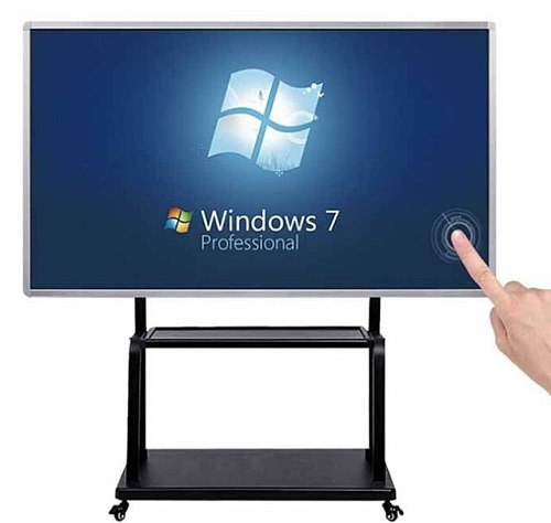 Lcd monitor 85'' inch teaching signage tablet all in one touchscreen display with pc buit in digital whiteboard