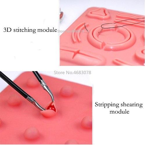 1Set Laparoscopic surgery training module, suture, shear, peel, clip, traction and perforation module