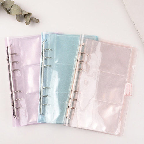 A6 Photo frame Transparent Loose Leaf Binder Notebook Inner Core Cover Note Book Planner Office Stationery Supplies