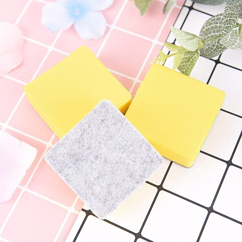 2Pcs/set Yellow Blackboard Eraser Whiteboard Cleaner Dry Marker Pen Foam Eraser Chalk Brushs