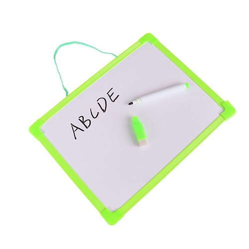 1Pcs Educational Mini Children Writing Tablet Drawing Board Pen Toys Early Learning Drawing Writing Tablet With 1 Black Pen Toys