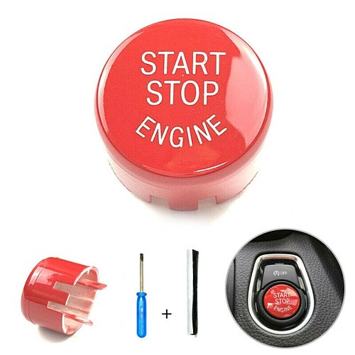 For BMW F10/F20/F30 F01 F25 Durable Red Start Stop Engine On/off Button Cover