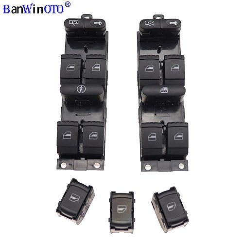 Window Panel Master Control Switch For VW Golf Jetta Bora Passat B5 Seat Leon Toledo Superb 2000 2001 2002 2003 2004 1J4959857