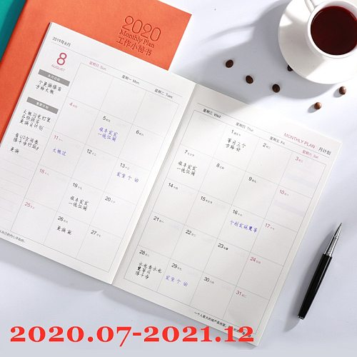 Notebook Planner Agenda 2020 2021 2022 Daily Weekly Monthly Journal A5 Meeting Book School Supplies Stationery Gift Management
