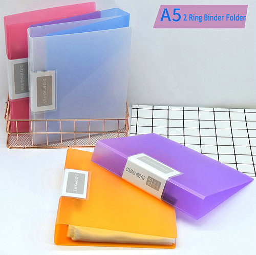 Office 2 Ring Binder A5 Folder Document Organizer A5 Paper File Covers For Documents