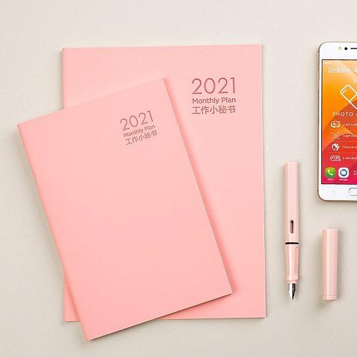 2021 2022 Planner Organizer A5 Notebook Agenda Daily Weekly Schedule Monthly School Office Supplies Journals Stationery Kpop