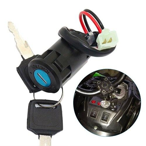 1 Set ATV  Ignition Key Switch Universal 2 Wires Ignition Keys Start Switch Lock Key For ATV Go Kart Scooter Motorcycle Etc 2019